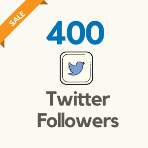 400 Twitter Followers