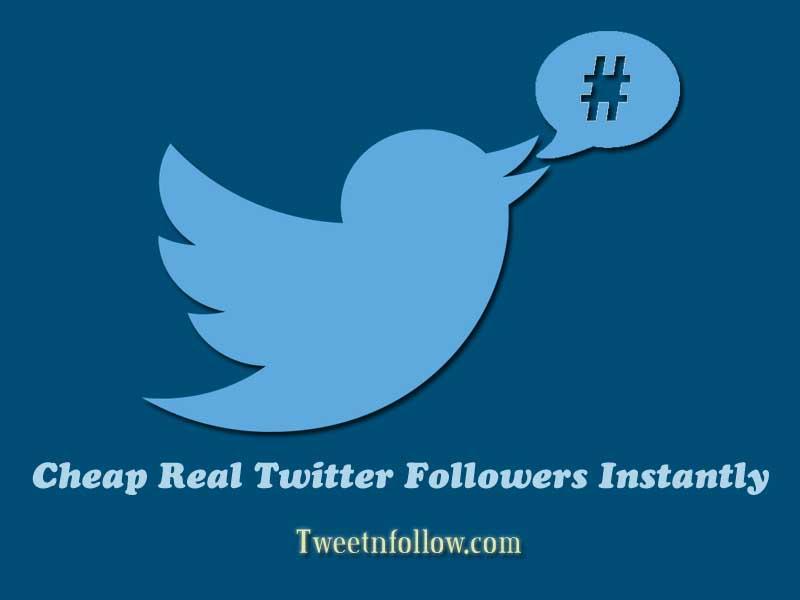 Cheap real twitter followers