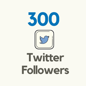 300 Twitter Followers from Tweetnfollowers