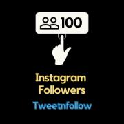 Buy 100 instagram followers from Tweetnfollow
