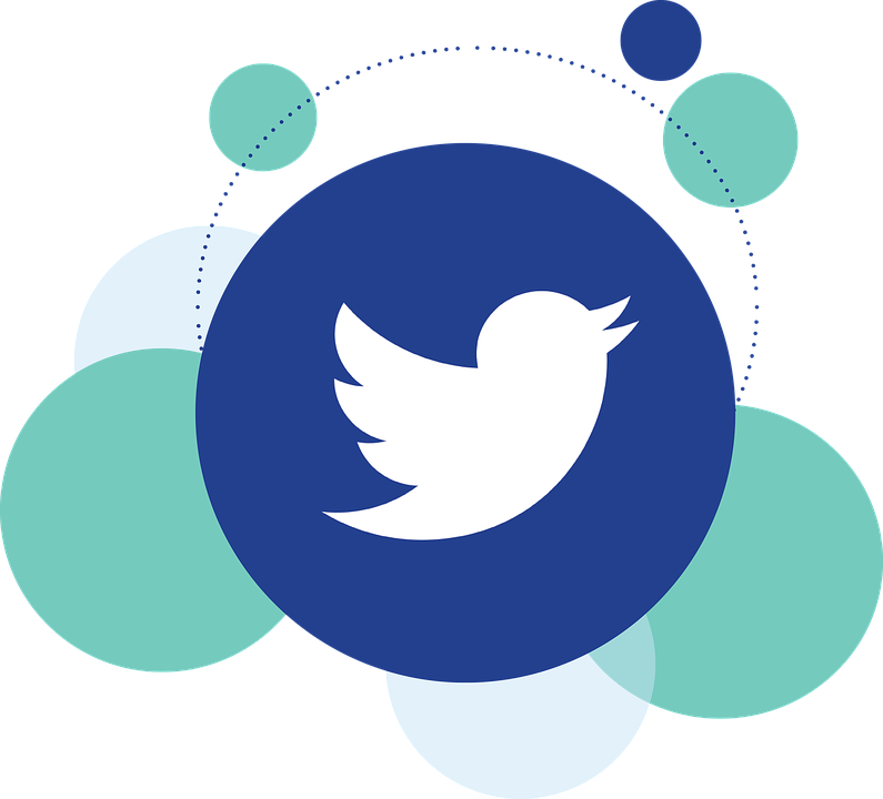a logo showing twitter with background of followers