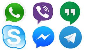 Viber , Skype, twitter, facebook, messengar, instagram