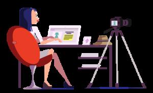 A women writing a fashion blog