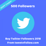 Buy 500 Twitter Followers 2018