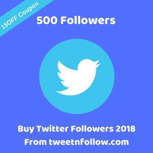 Buy 500 Twitter Followers 2018