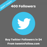 400 followers on twitter
