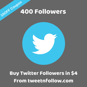 400 followers on twitter