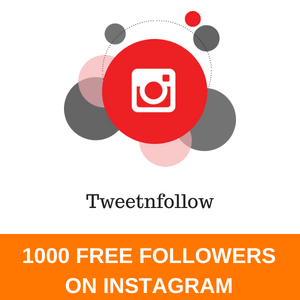 1000 FREE FOLLOWERS ON INSTAGRAM