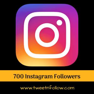 700 Instagram followers