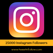 25000 followers on Instagram