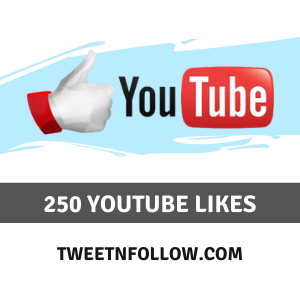 Buy 250 YouTube Likes Cheap & HQ
