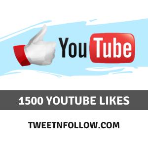 Buy 1500 YouTube Likes Cheap