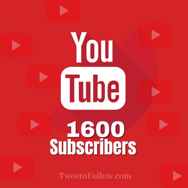 Buy 1600 YouTube Subscribers